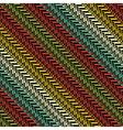 colorful ornate herringbone vector image