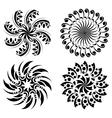 set of round black design elements vector image vector image