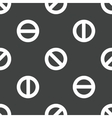 The No symbol pattern vector image