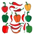 Set of pepper vector image
