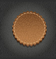 round leather label - vector image