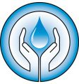 water drops and hands vector image vector image