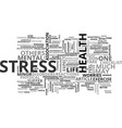A checklist for stress text word cloud concept vector image