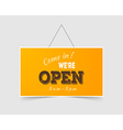 Come in Were open vector image