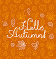 Different leaves silhouettes autumn concept vector image