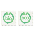 green eco and bio icons vector image