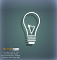 Light bulb icon On the blue-green abstract vector image