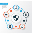 notebook icons set collection of defense dossier vector image