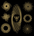 polyhedral geometric shapes vector image