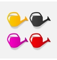 realistic design element watering can vector image