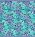 Succulents seamless pattern textile design in vector image