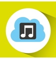 cloud music download connected design vector image