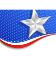 Stars and Stripes Landscape Silver Star vector image vector image