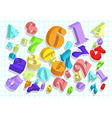 arithmetic abstract background vector image