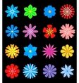 Set of flower blossoms vector image vector image