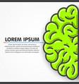 cartoon green left part of human brain clean vector image