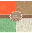 4 seamless patterns Shabby chic Floral patterns vector image