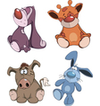 Set of stuffed toys cartoon vector image vector image