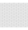Abstract seamless white flat brick wall vector image vector image