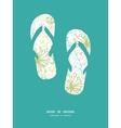mysterious green garden flip flops vector image