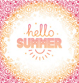 summer background in trendy linear style vector image vector image