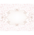 Background with pearl frame vector image