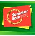 Summer sale advertisement vector image vector image