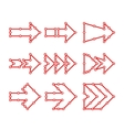 Arrows in the form of lines dots connected vector image