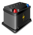 Car battery vector image