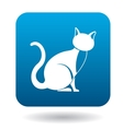 Cat icon simple style vector image