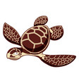 catroos sea turtle vector image