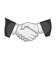 handshakerealtor single icon in monochrome style vector image