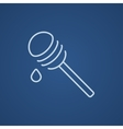 Honey dipper line icon vector image