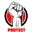 Protest rebel revolution art poster vector image