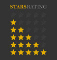 rating star golden vector image