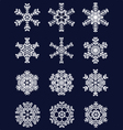 white snowflakes vector image