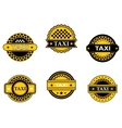 Taxi symbols and signs vector image vector image