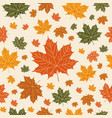 autumnal seamless pattern on beige background vector image