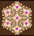 mandala brooch jewelry design element geometric vector image