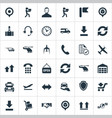 set of simple logistics icons vector image