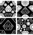seamless diamonds set 2 vector image vector image
