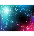 Bright Background with Stars vector image vector image
