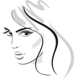 beautiful face vector image