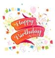 Happy anniversary festive ribbon vector image vector image
