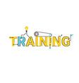 Training word lettering design vector image