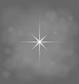 abstract star magic light sky bubble blur gray vector image