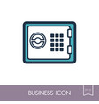 bank safe outline icon finances sign vector image