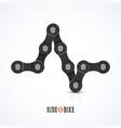 bike chain ecg symbol - ride a bike poster vector image