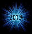 blue abstract happy new year twenty thirteen vector image