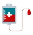 Donate blood pack isolated vector image